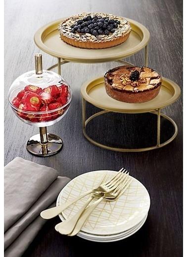 The Mia Pasta & Kek Servisi 35 x 15 Cm  Altın